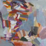 """Bubblegum Somersault, Oil on Canvas, 36""""x 36"""", 2016"""
