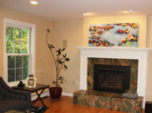 KJ Commissioned Painting installed in client's Andover home