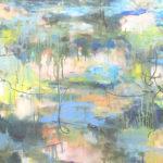 """Macro Algae, Oil on Canvas, 36""""x 60"""", 2017"""