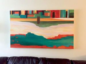 """Forever Flowing"", Oil on Canvas, 36""x 60"", 2015"