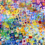 "Underwater, Acrylic on Panel, 12""x 12"", 2015 SOLD"