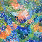 """Underwater II, Acrylic on Panel, 12""""x 12"""", 2015"""